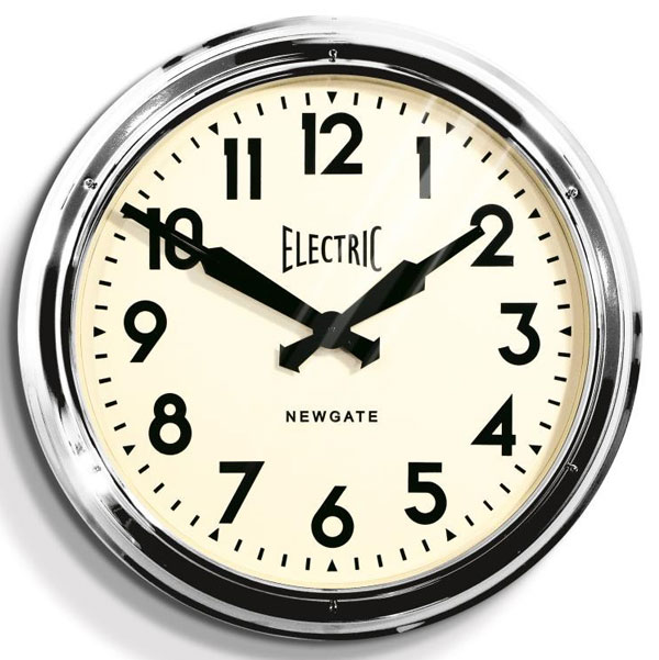 Newgate Giant Electric Station Clock  Chrome