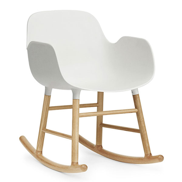 Normann Copenhagen Form Rocking Armchair - White Oak