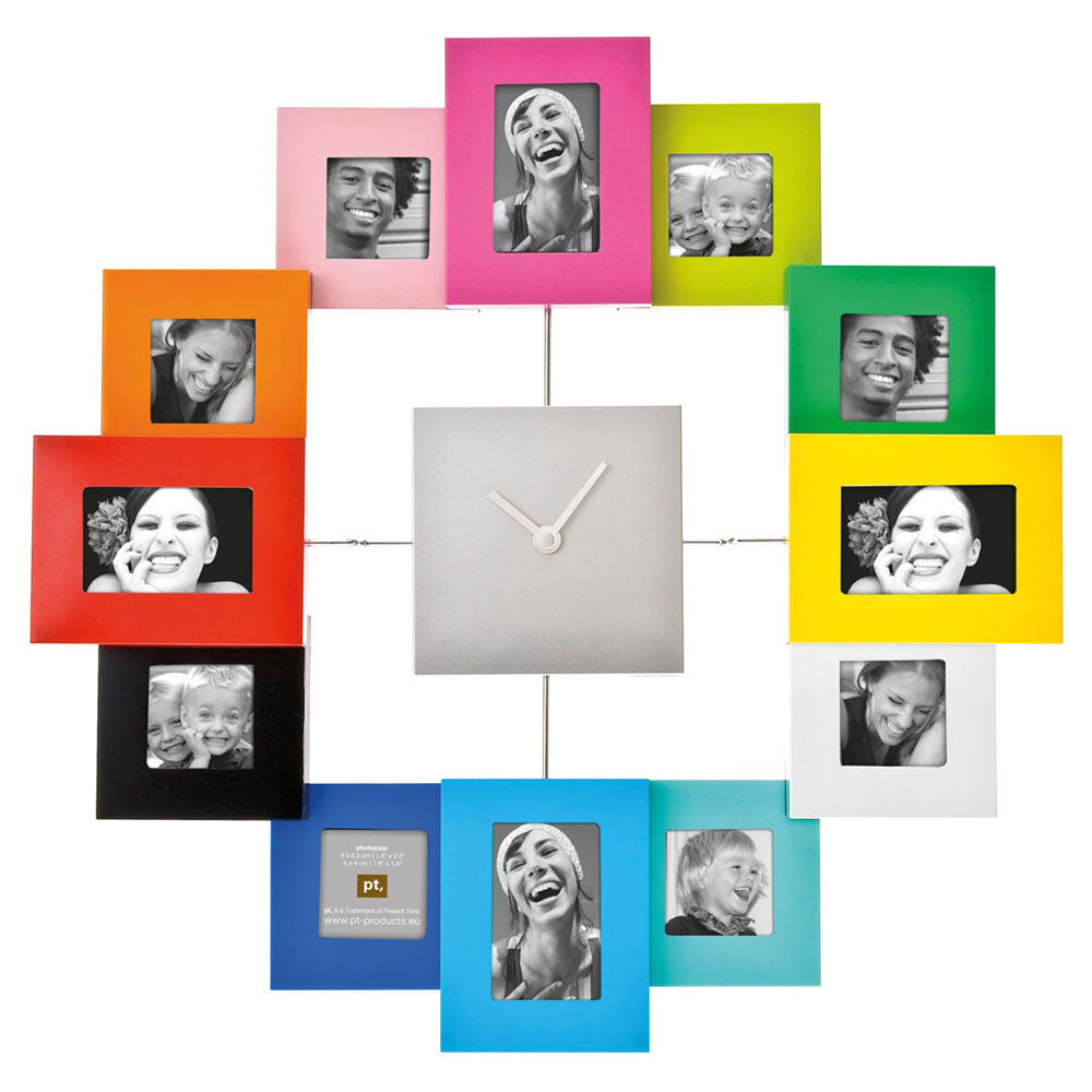 Family Time Photo Frame Clock - Multi Coloured - Christmas  gift