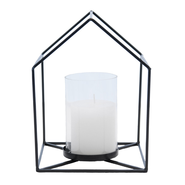 House Candle Holder - Black [D]