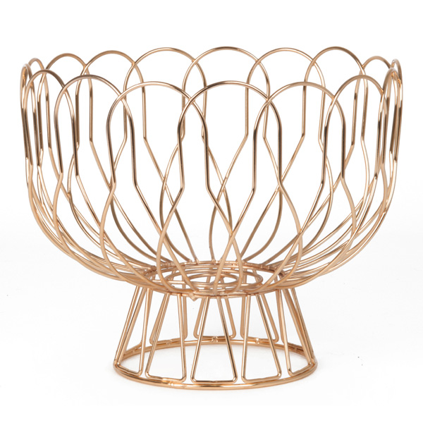 Wired Fruit Bowl - Copper