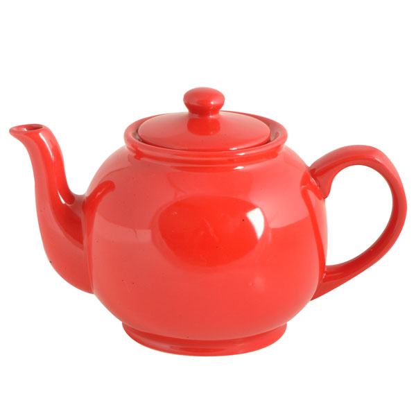 Brights Red Teapot  6 Cup