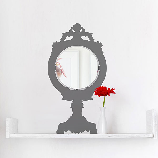Antique Desk Mirror Wall Sticker
