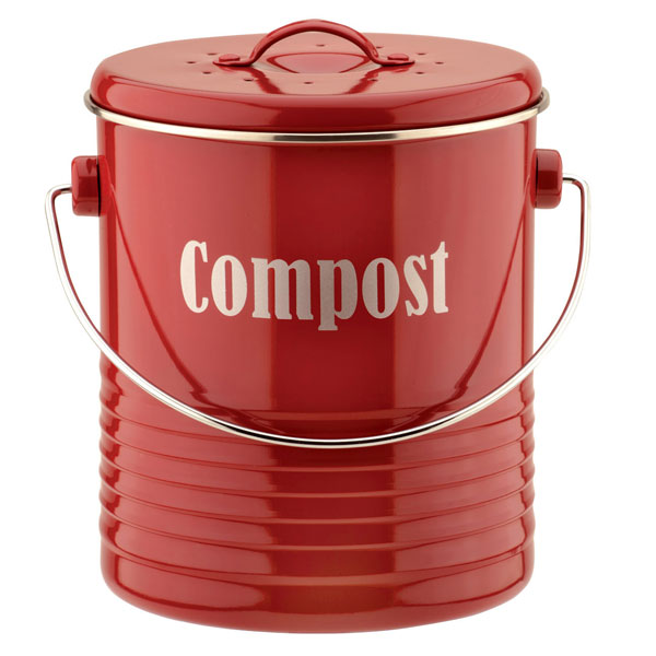 Typhoon Vintage Red Compost Caddy