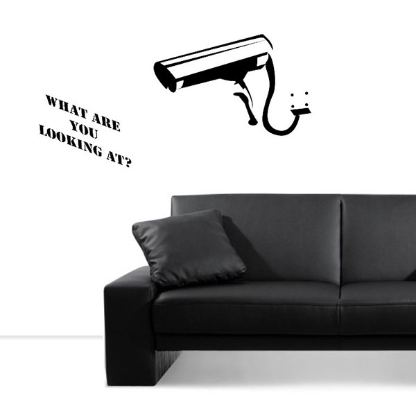 Banksy What You Looking At Wall Sticker