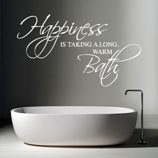 Happiness Is Wall Sticker Large
