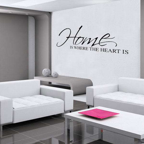 Home Is Where The Heart Is Wall Sticker Large