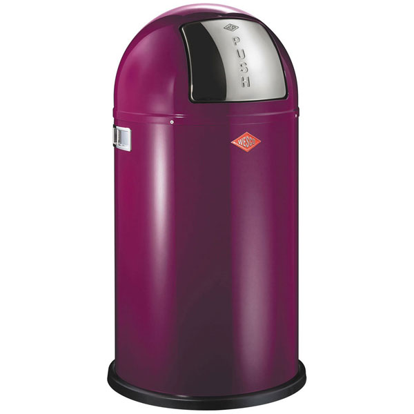 Wesco Pushboy Bin  Purple