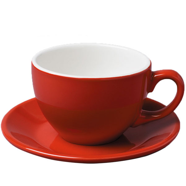 Large Red Cup and Saucer