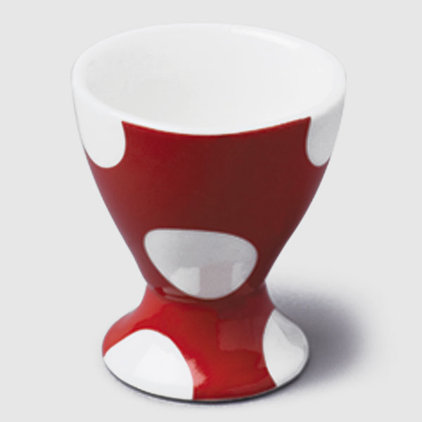 Red Dotty Single Egg Cup