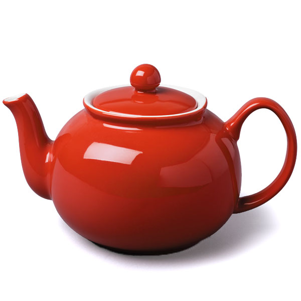 Large Red Teapot